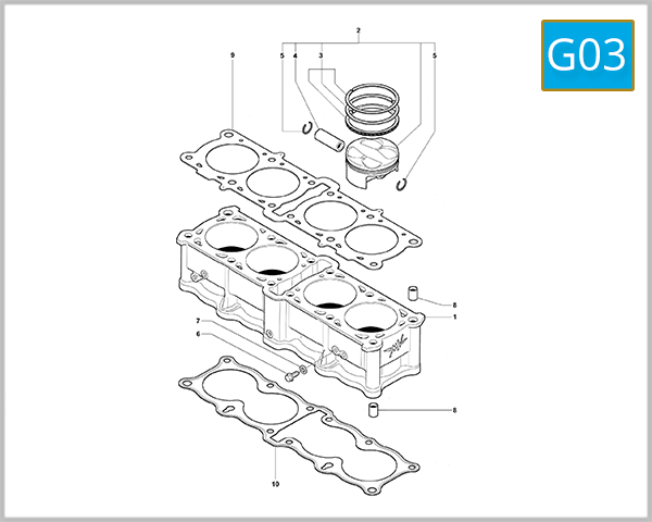 G03 - Cylinders And Pistons Assembly