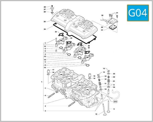 G04 - Cylinder Head Assembly