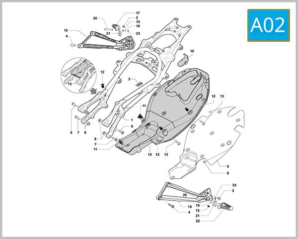 A02 - Rear Frame Assembly