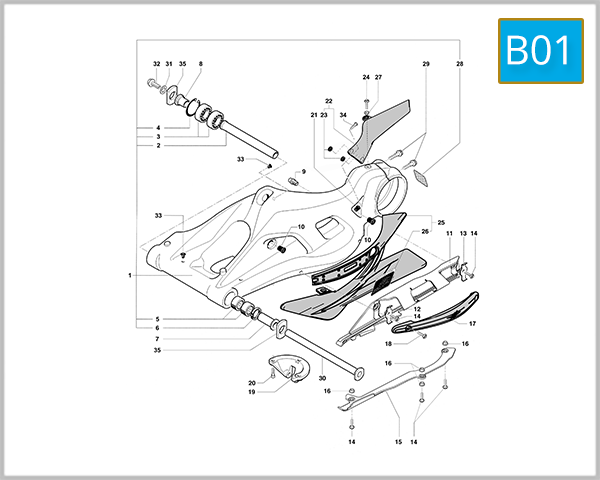 B01 - Swing Arm Assembly