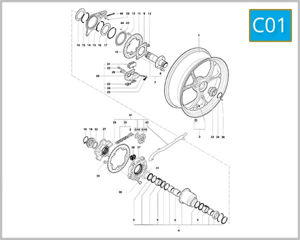 C01 - Rear Wheel Assembly