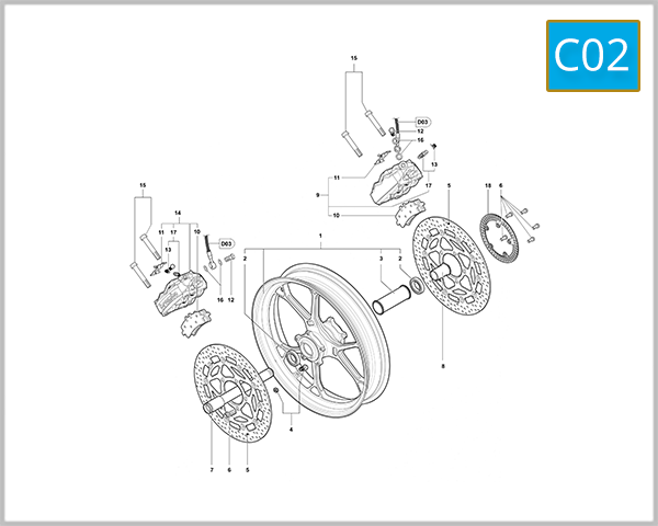 C02 - Front Wheel Assembly