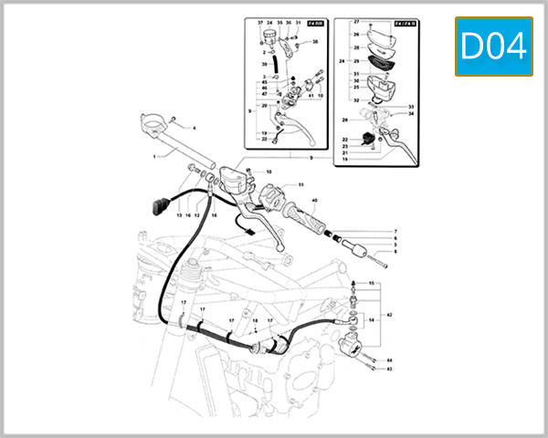 D04 - Handlebar Assembly (Left Side)