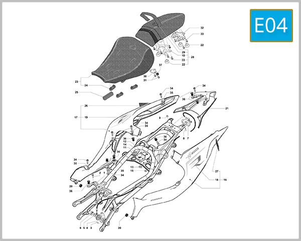 E04 - Rear Fairing Assembly