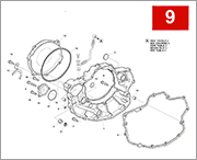 009 - R.H. HALF CRANKCASE COVERS