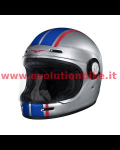 Moto Guzzi MRV Full Face Sketch Silver Helmet