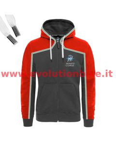 MV Agusta Reparto Corse Red/Dark Grey Zip-Up Hoodie