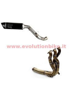 EvolutionBike F3 Inox Full Exhaust (slip on) with carbon end cap