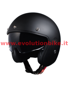 Moto Guzzi Jet Helmet Double Black