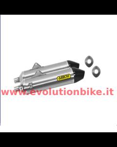 Arrow Thunder Titanium Exhaust Silencers (slip on) with carbon end cap